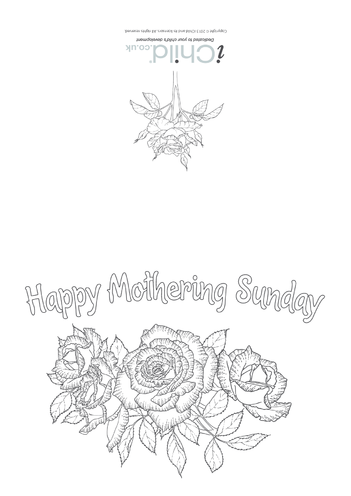 Thumbnail image for the Mothering Sunday Card activity.