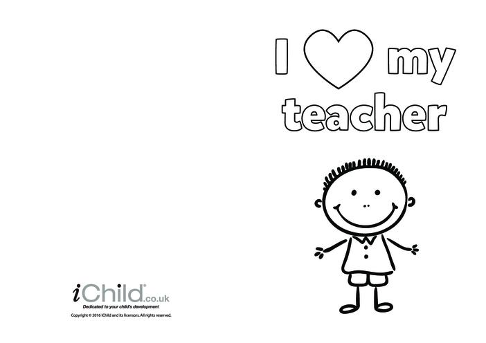 Thumbnail image for the I Love My Teacher activity.