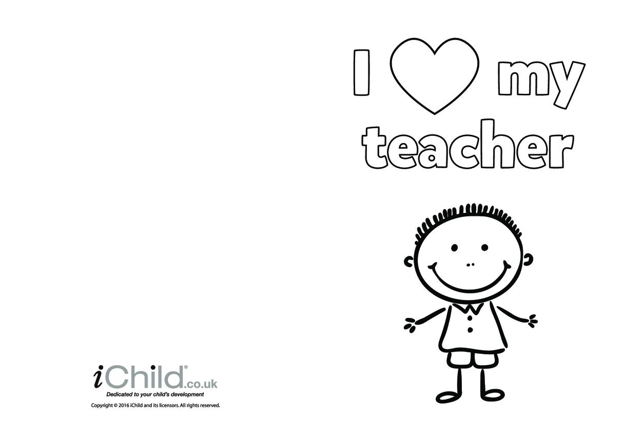 I Love My Teacher (boy picture)