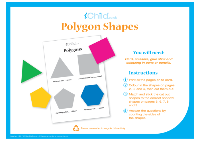 Thumbnail image for the Cut Out Polygon Shapes activity.