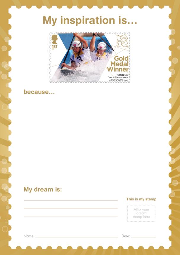 My Inspiration Is- Team GB Canoe Slalom- Gold Medal Winner Stamp