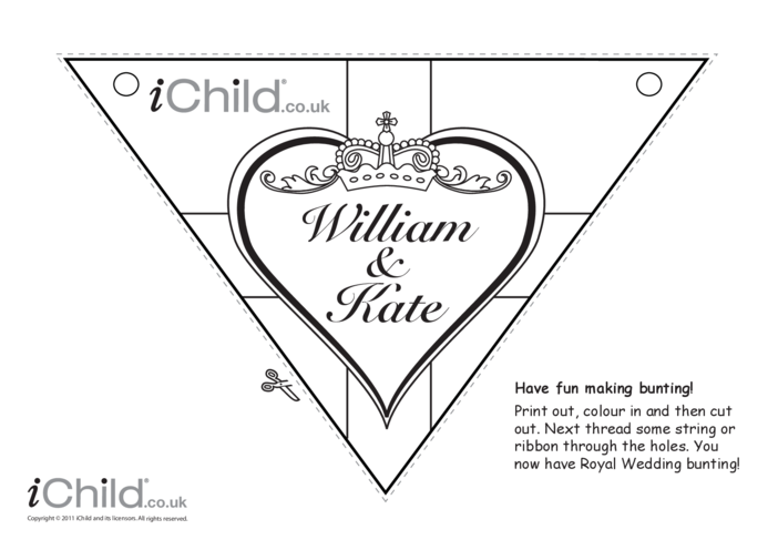 Thumbnail image for the Royal Wedding Bunting Craft: William & Kate activity.