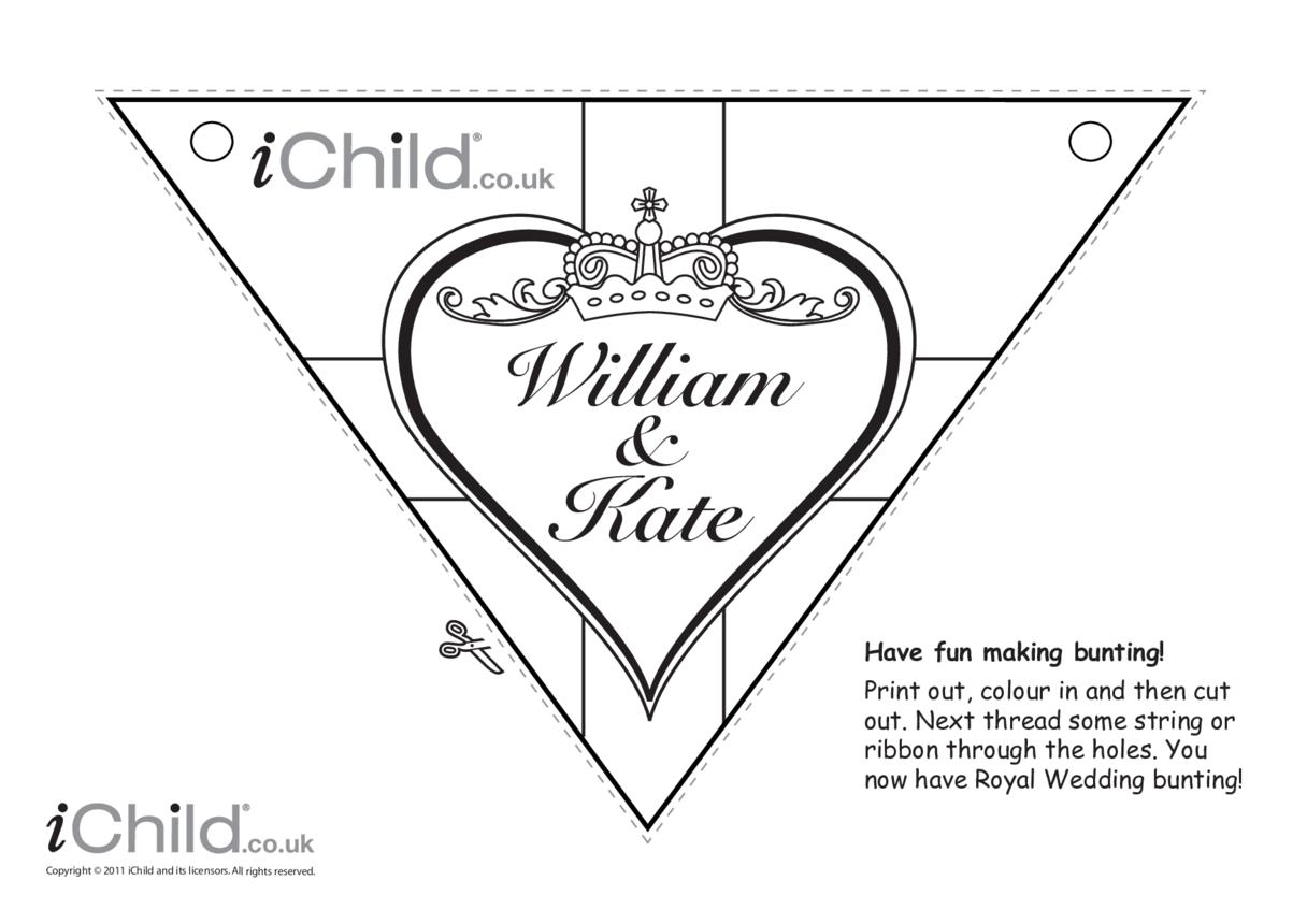 Royal Wedding Bunting Craft: William & Kate