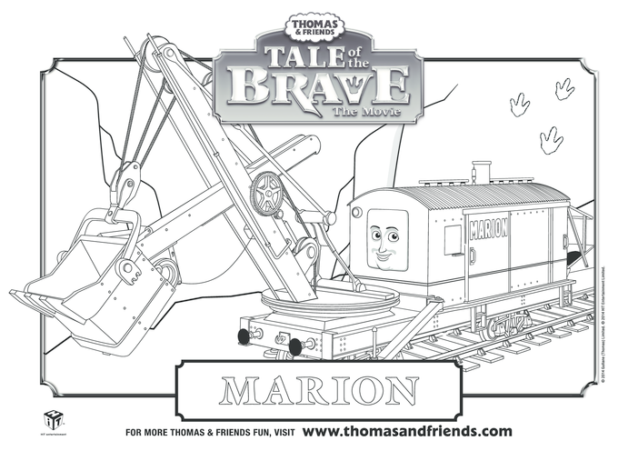 Thumbnail image for the Tale of the Brave, Marion Colouring in Picture (Thomas & Friends) activity.