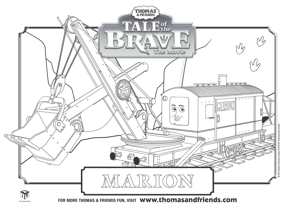 Tale of the Brave, Marion Colouring in Picture (Thomas & Friends)