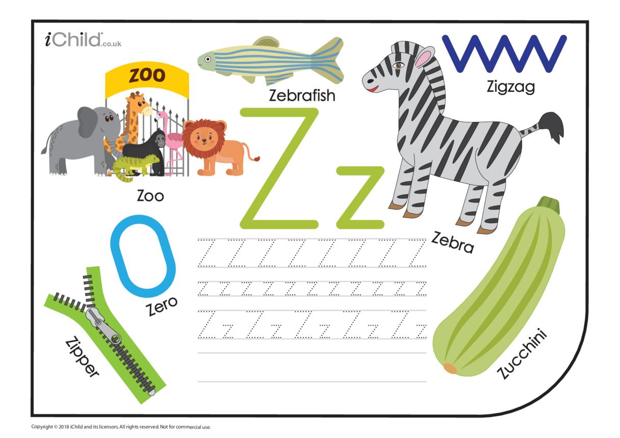 Z: Writing the Letter Zz