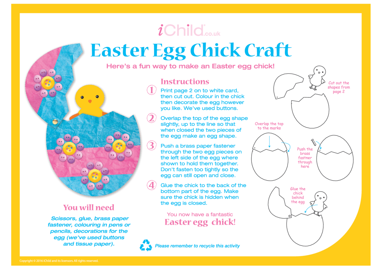 Easter Egg Chick Craft