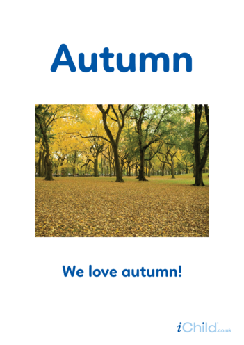 Thumbnail image for the Autumn - Photo Poster activity.