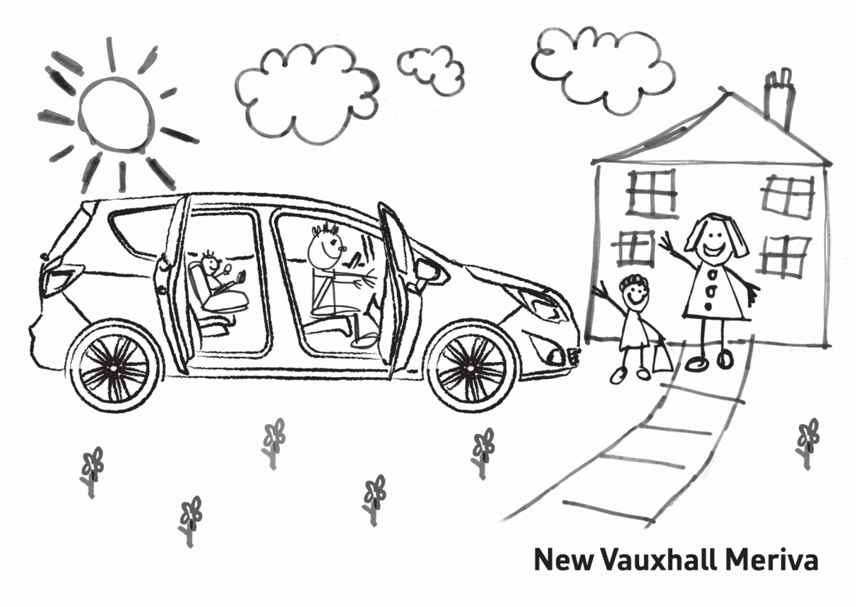 New Vauxhall Meriva Colouring in picture 2