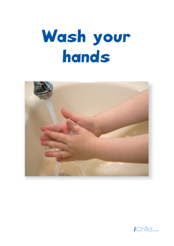 Thumbnail image for the Wash your Hands Poster activity.