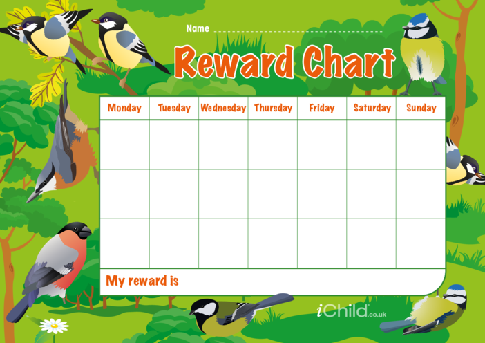 Thumbnail image for the Birds Reward Chart activity.