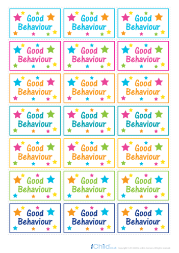 Thumbnail image for the Good Behaviour Large Sticker Sheet activity.