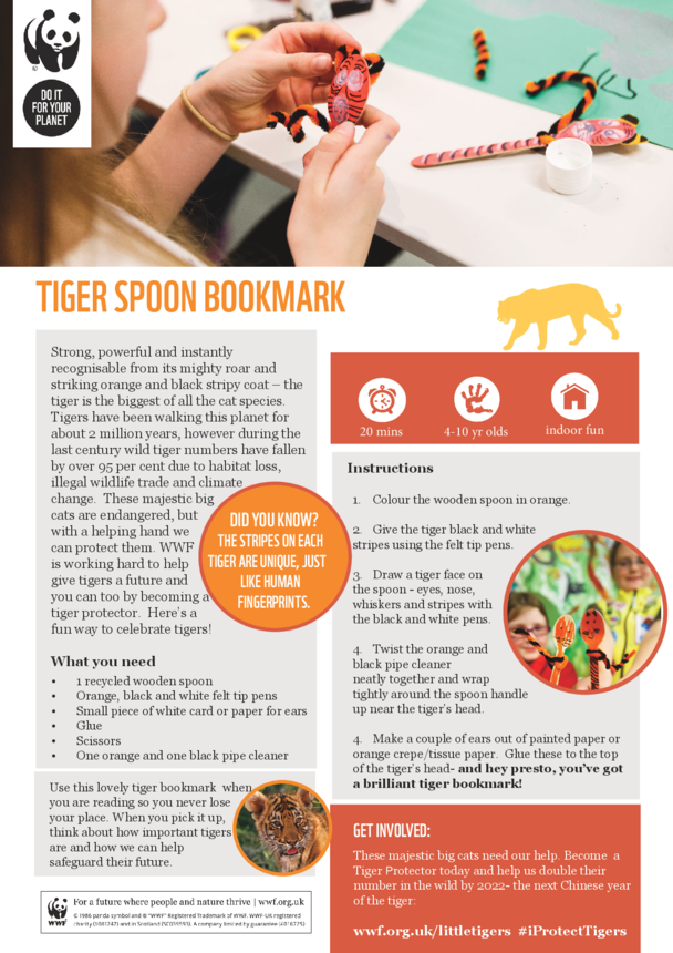 WWF Tiger Spoon Bookmark