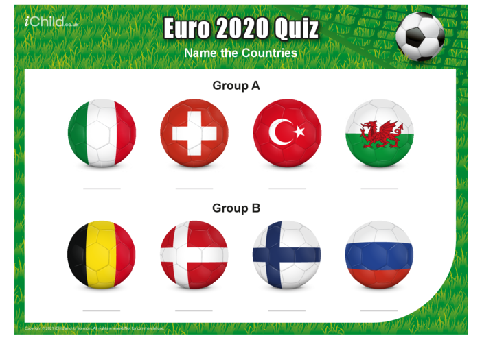 Thumbnail image for the Euro 2021 Quiz - Name the Countries activity.