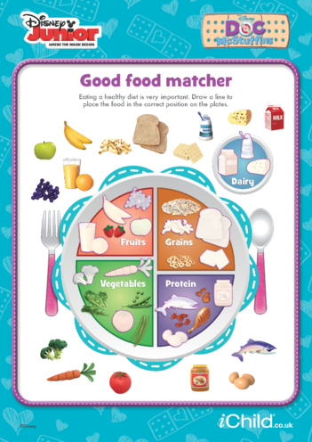 Thumbnail image for the Doc McStuffins: Good Food Matcher- Disney Junior activity.