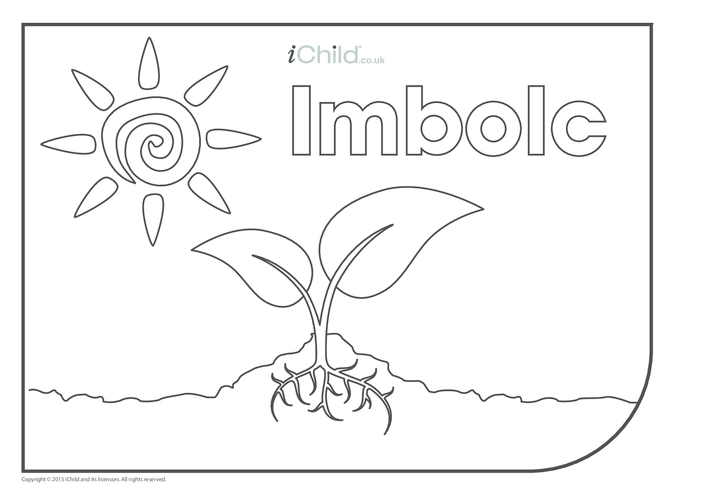 Thumbnail image for the Imbolc Colouring in Picture (with seed) activity.