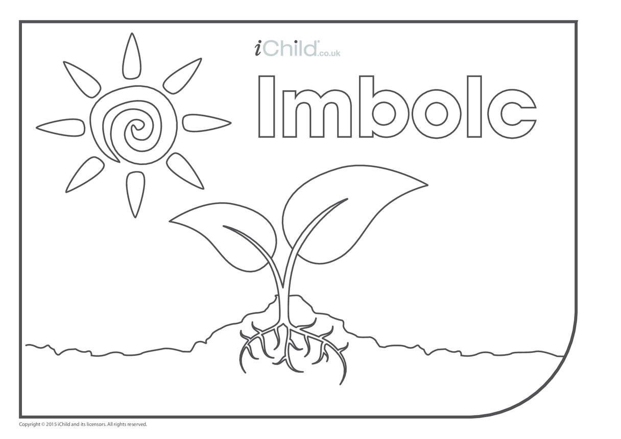 Imbolc Colouring in Picture (with seed)