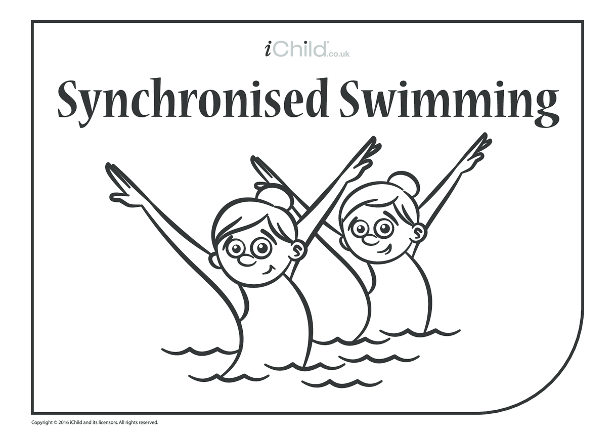 Synchronised Swimming Colouring in Picture