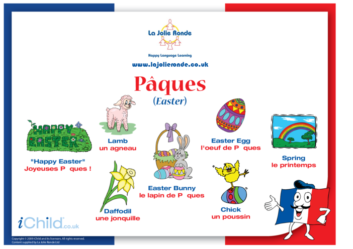 Thumbnail image for the Easter Words in French activity.