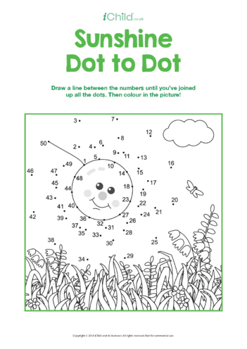 Thumbnail image for the Sunshine Dot to Dot activity.