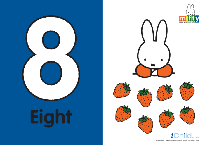Thumbnail image for the Number 8 with Miffy activity.