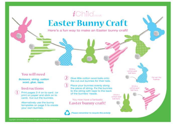 Thumbnail image for the Easter Bunny Craft activity.