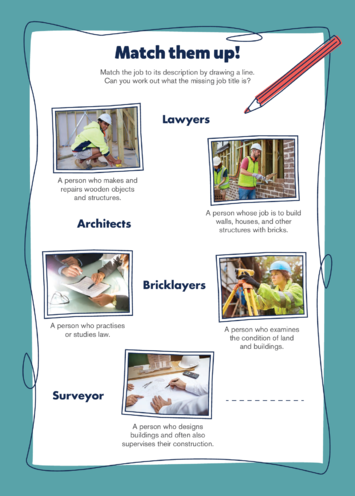 Thumbnail image for the Earls Court Activity: Match them up! activity.