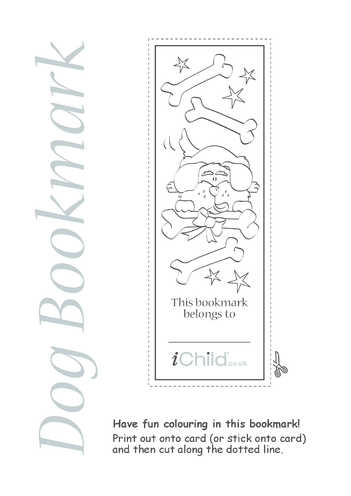 Thumbnail image for the Dog Bookmark activity.