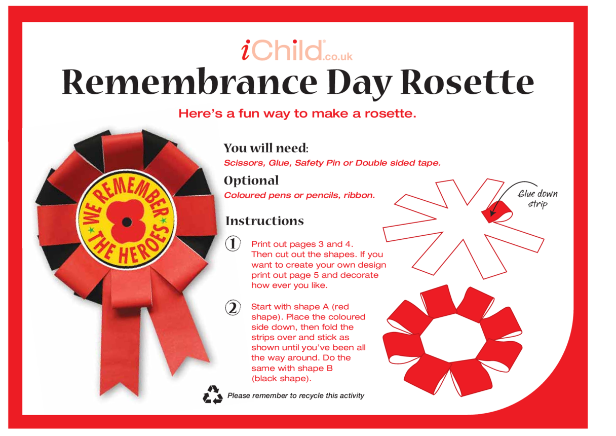 Remembrance Day Rosette