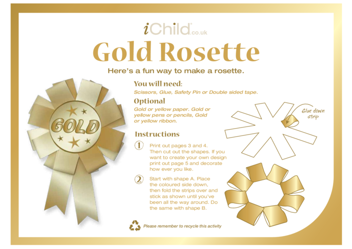 Thumbnail image for the Rosette - Gold activity.