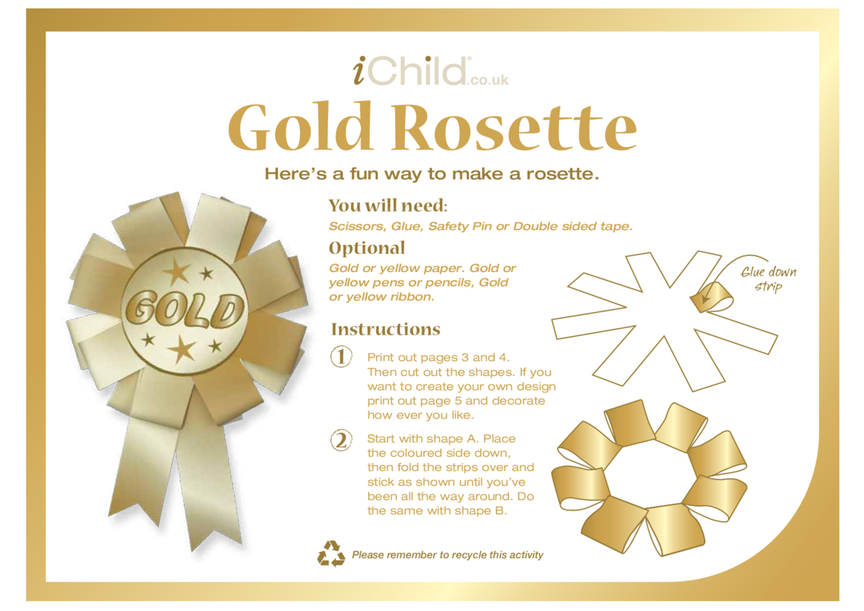 Rosette- Gold