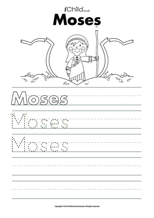 Moses Handwriting Practice Sheet