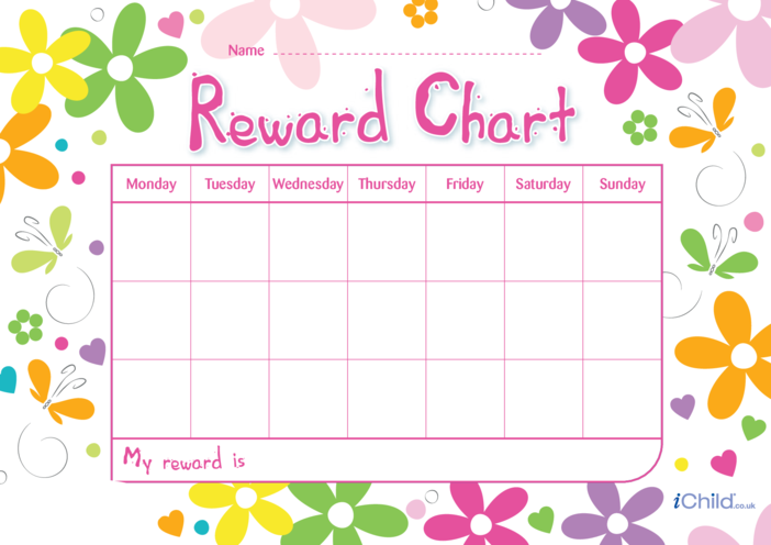 Thumbnail image for the Mother's Day Reward Chart activity.