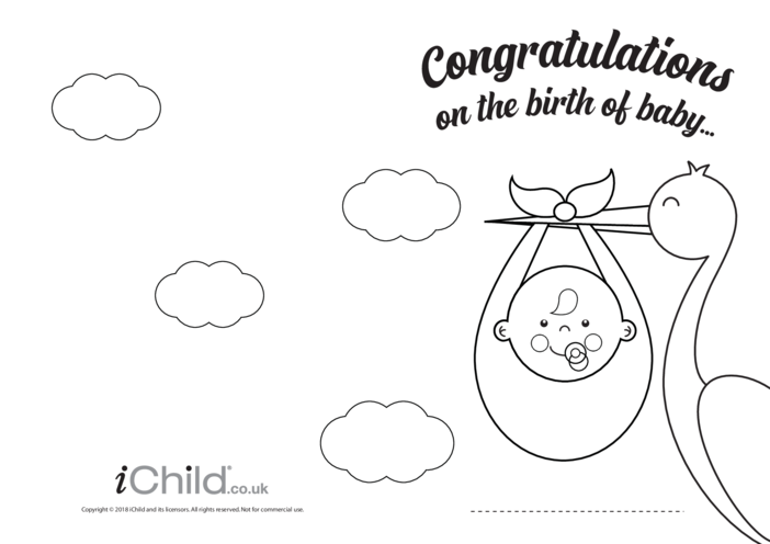 Thumbnail image for the Congratulations on the Birth of Baby Card activity.