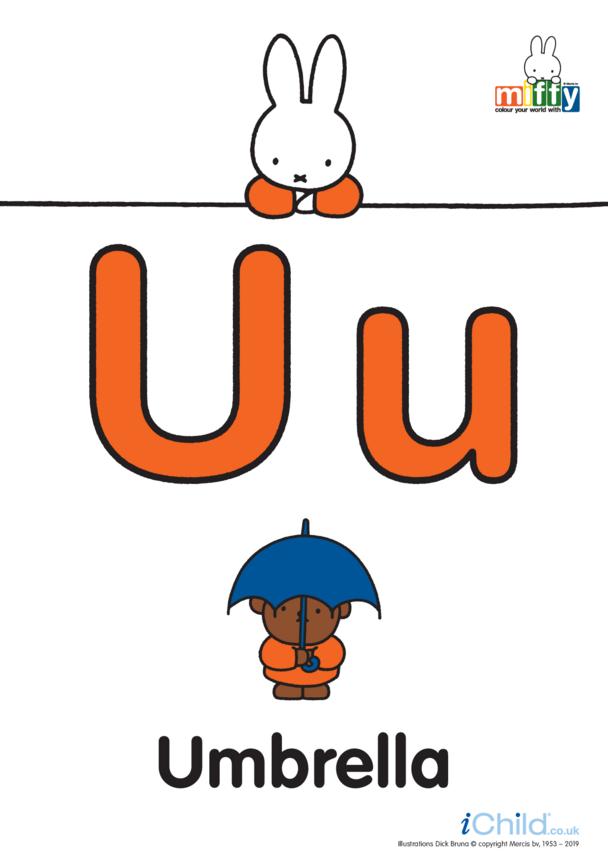 U: Miffy's Letter U