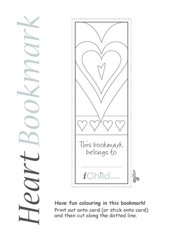 Thumbnail image for the Heart Bookmark activity.