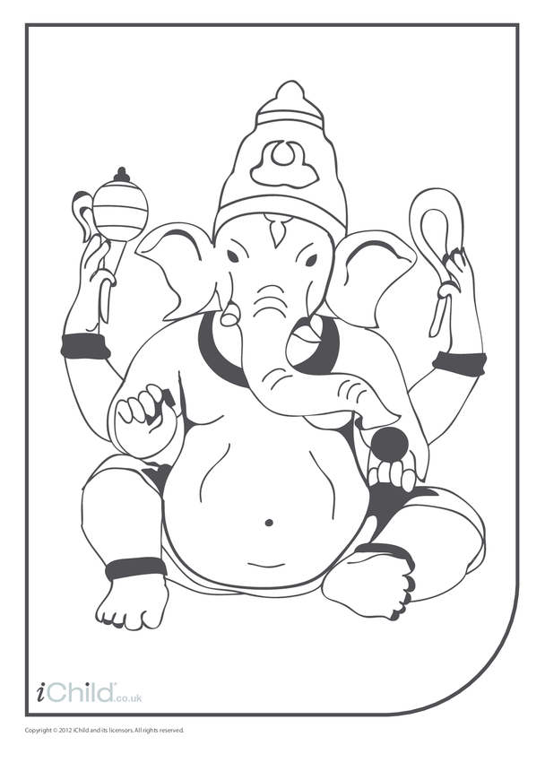 Ganesha Colouring in Picture