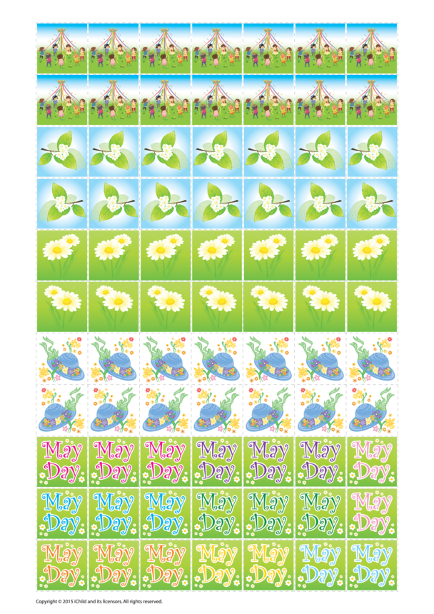 Maypole Reward Chart Sticker Sheet