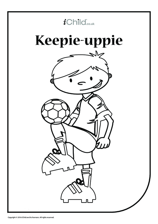 Keepie-Uppie Colouring in Picture (boy)