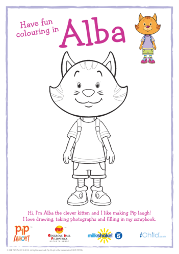 Thumbnail image for the Alba Colouring in Picture (Pip Ahoy!) activity.