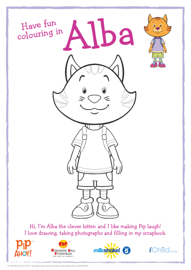Alba Colouring in Picture (Pip Ahoy!)