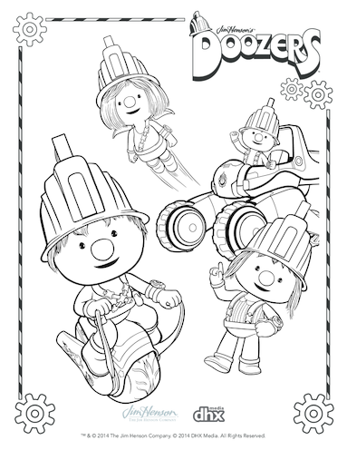 Thumbnail image for the Pod Squad Colouring in Picture (Doozers) activity.