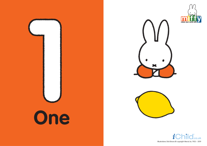 Thumbnail image for the Count up to 10 with Miffy activity.