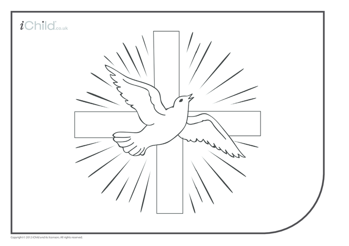 Thumbnail image for the Holy Spirit/Dove Colouring in Picture activity.