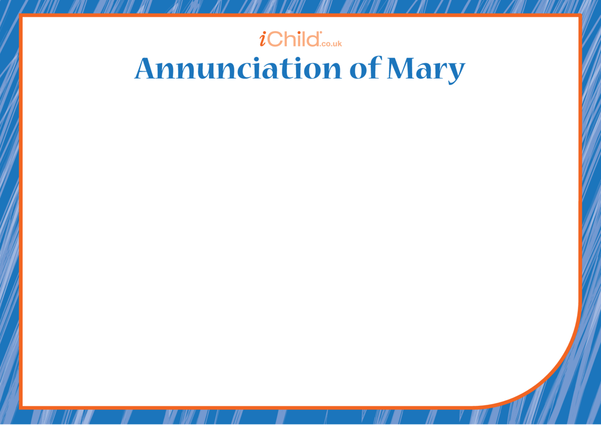 The Annunciation of Mary Blank Drawing Template