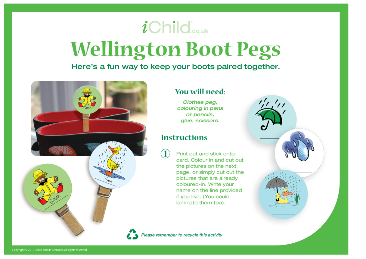 Wellington Boot Pegs