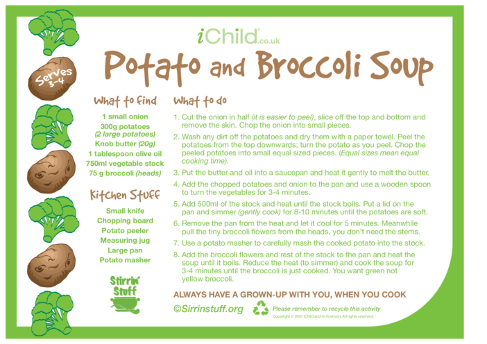 Thumbnail image for the Potato and Broccoli Soup activity.