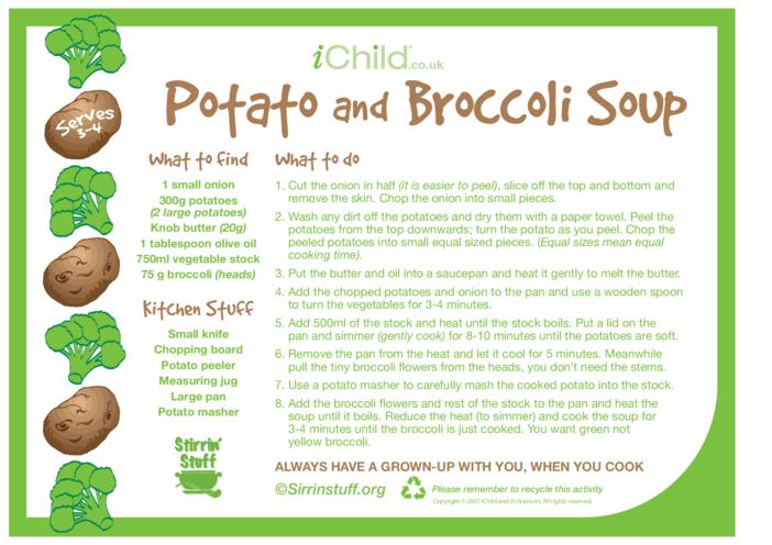 Thumbnail image for the Potato and Broccoli Soup activity.