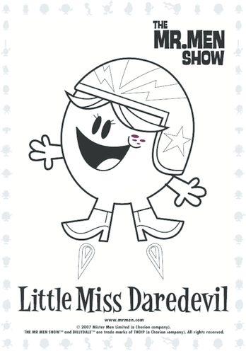 Thumbnail image for the Little Miss DareDevil Colouring in activity.