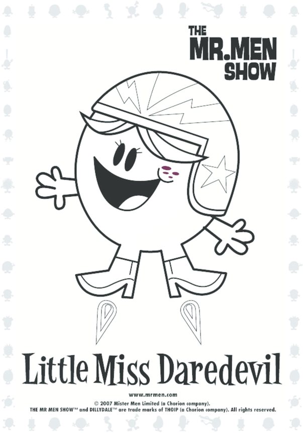 Little Miss DareDevil Colouring in